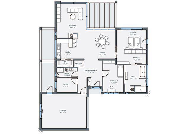 bungalows f r jung alt der bungalow mit extra platz von weberhaus haus bau. Black Bedroom Furniture Sets. Home Design Ideas