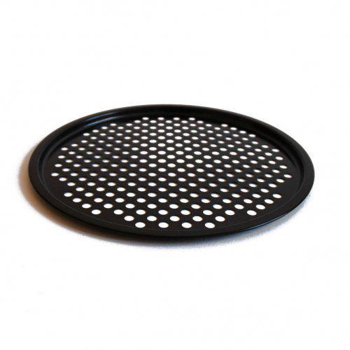 Pizzabakplaat, zwart metaal, anti-aanbak, Ø 33 cm