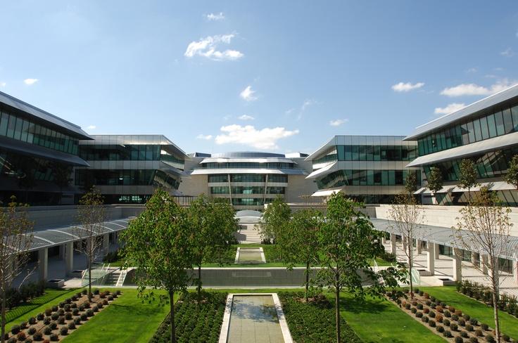Zona de oficinas de la Ciudad Grupo Santander