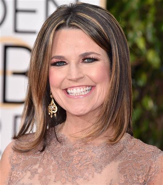 Savannah Guthrie Golden Globes 2016