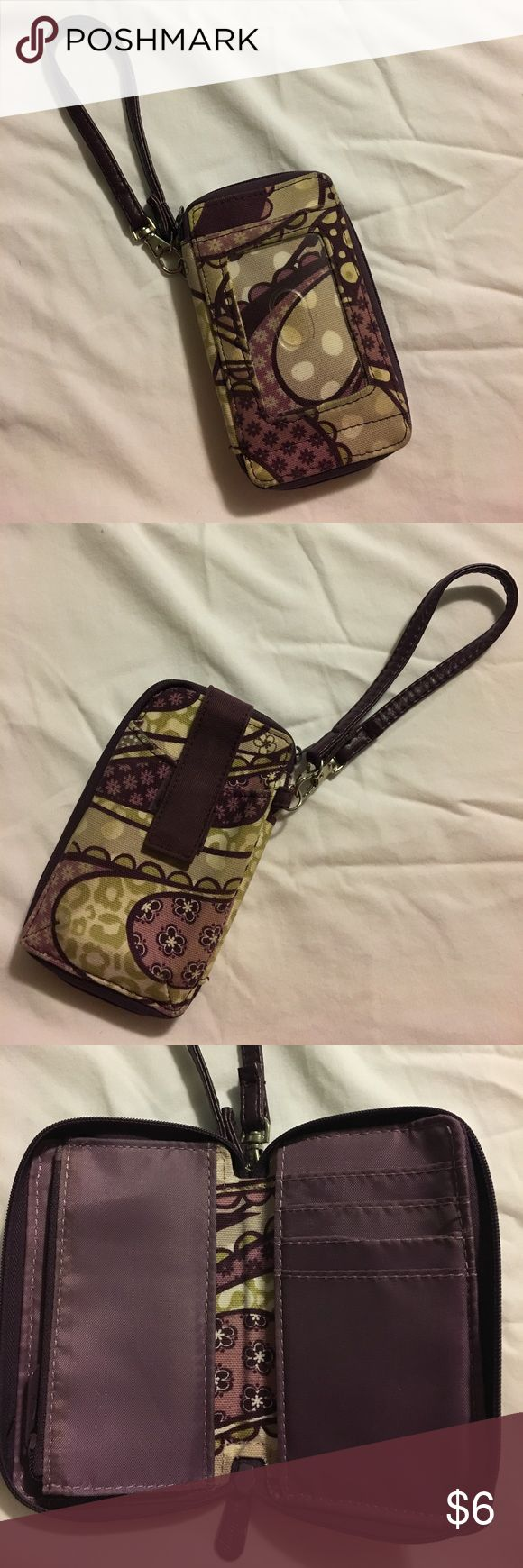 Thirty One Wristlet Thirty One Wristlet. Purple pattern. No stains. Thirty One Bags Clutches & Wristlets