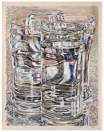 ' 4 Glasses ' - Janet Fish