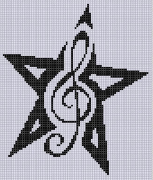 Looking for your next project? You're going to love Music Star 3 Cross Stitch Pattern  by designer Motherbeedesigns. - via @Craftsy