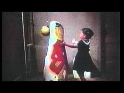 Albert Bandura's early research on aggression and modeling - the Bobo Doll experiment.