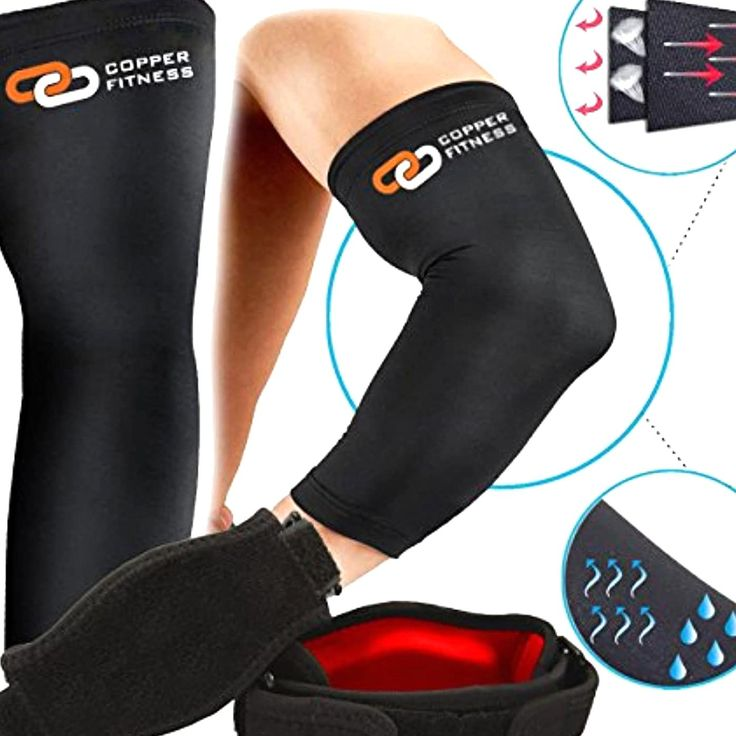 Copper fitness 1 tennis elbow brace and 1 recovery copper