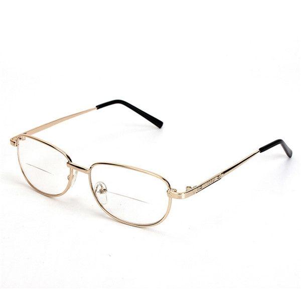 Estructura de metal con bordes cómoda fatiga presbicia bifocales aliviar las gafas de lectura de fuerza 1.0 1.5 2.0 2.5 3.0
