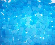 """100 1/2"""" Periwinkle Blue Tumbled Stained Glass Mosaic Tiles"""