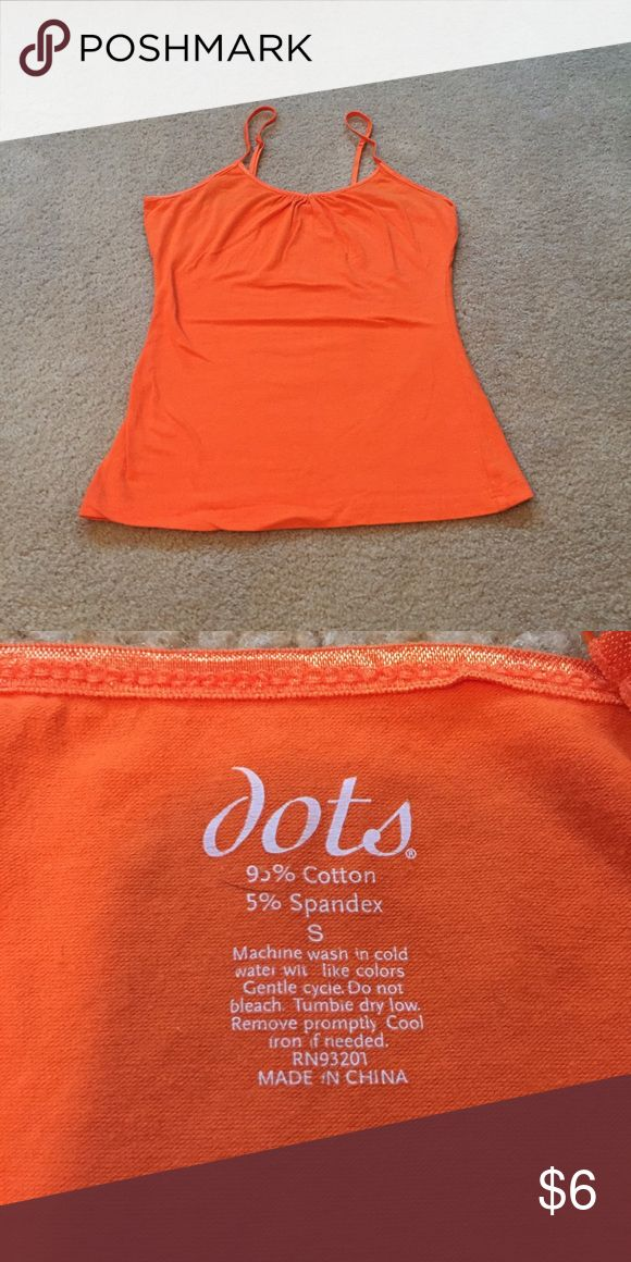 Orange cami Orange cami from dots. Size small. Great condition. Dots Tops Camisoles