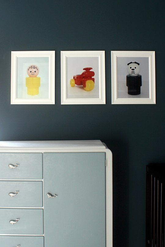 DIY Room Decor: Vintage Fisher Price Art