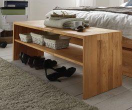 Bettbank aus Massivholz mit zwei Ablageflächen. | Betten.de  http://www.betten.de/bettbank-massives-buchenholz-zarbo.html