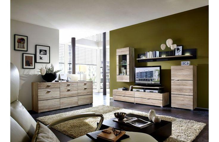 Meuble de salon contemporain en bois - Ensemble #meubledesalon design - Meuble et Canape.com