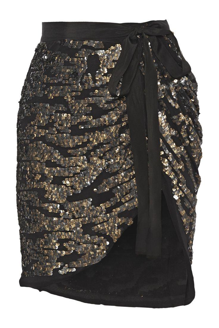 ISABEL MARANT Felmira Embellished Silk-Georgette Mini Wrap Skirt. #isabelmarant #cloth #skirt