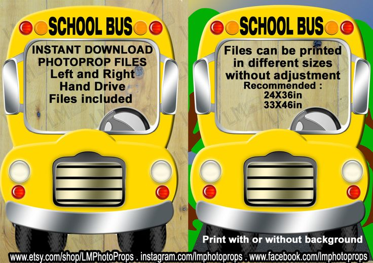 Yellow School Bus Photo Booth Prop School Bus by LMPhotoProps