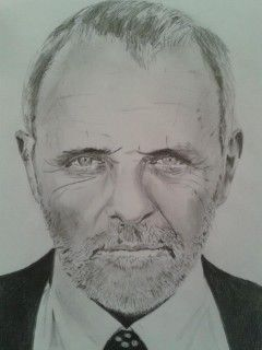 Drawing of Sir Anthony Hopkins