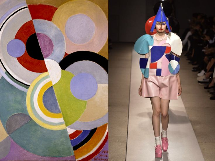"""INTO THE FASHION: INSPIRATION 'Rythme Coloré"""" by Sonia Delaunay 1946… Junya Watanabe SS