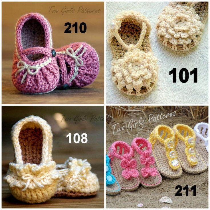 Crochet Patterns Baby Booties