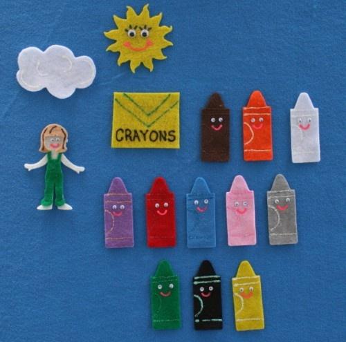 The Crayon Box That Talked Felt Board Story