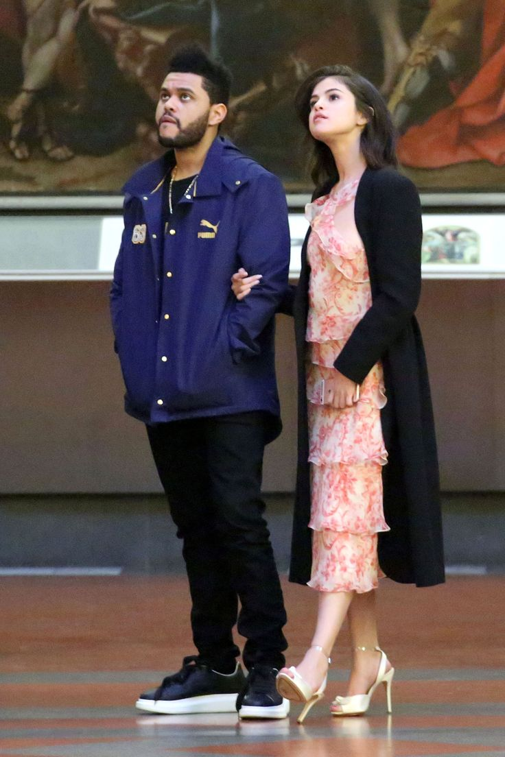 January 27: Selena inside The Accademia Gallery Museum with The Weeknd in Florence, Italy