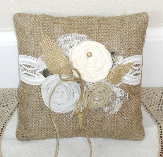 Shabby Chic Neutral Ring Bearers Pillow 839 by lifesjoyousmoments, $24.50     IN LOVE WITH THIS