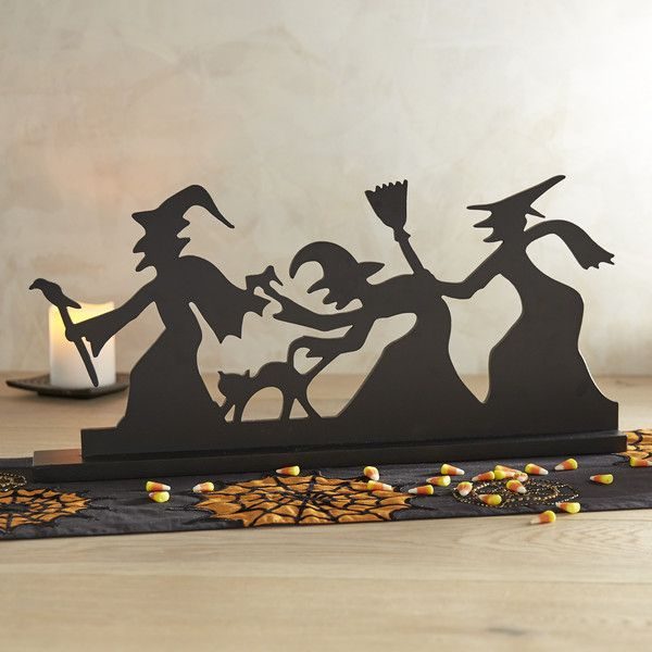 pier 1 imports black spooky witch silhouette decor halloween - Halloween Witch Decorations