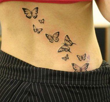Tatuajes Mariposas Espalda Baja Caderas Pelvis 3 Tatoos