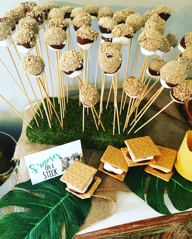 """S'mores on a stick.  """"A Wild One"""" Where the Wild Things Are First Birthday Party"""