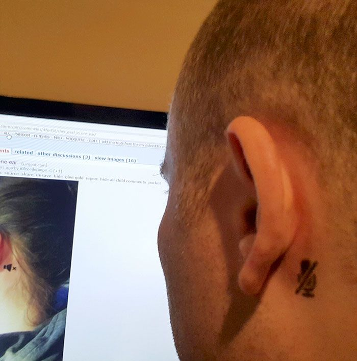 A Girl Who Is Deaf In One Ear Gets A Tattoo To Inform Strangers
