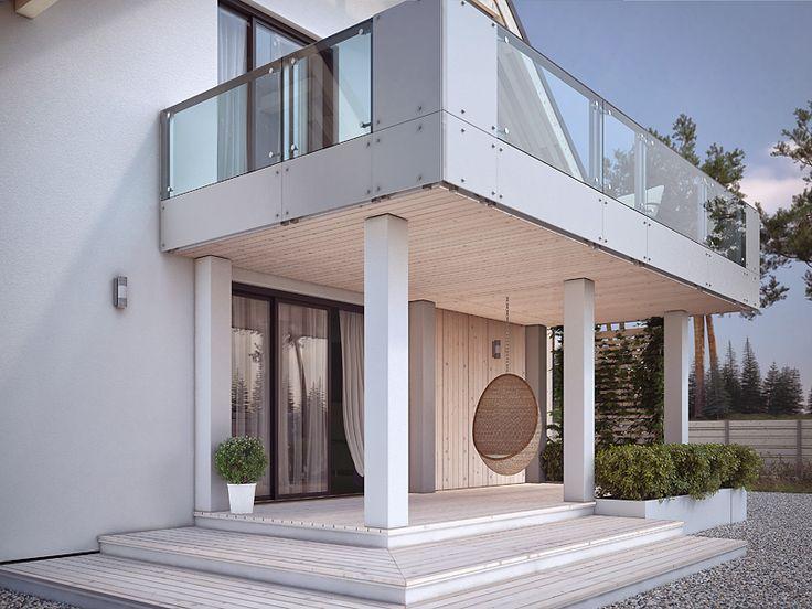 Projekt Amarylis 4 (156 m2) to nowoczesny dom na wąską działkę. Pełna…