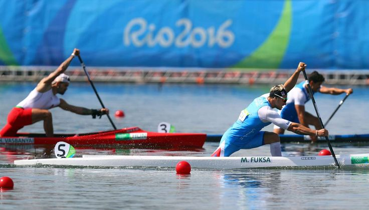 Martin Fuksa of the Czech Republic competes during the men's canoe single 1000 sprint semifinal competition in the Rio 2016 Summer Olympic Games at Lagoa Stadium.        -  Best images from Aug. 15 at the Rio Olympics:  2016