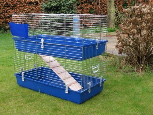 large indoor rabbit guinea pig hutch cage run new navy. Black Bedroom Furniture Sets. Home Design Ideas