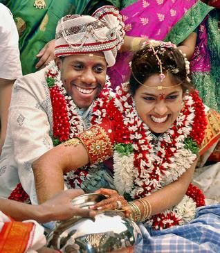 Haitian Groom And Indian Bride Revel In A Traditional Ritual That Formed Their Wedding Vijayawada Levi X Samanmitha