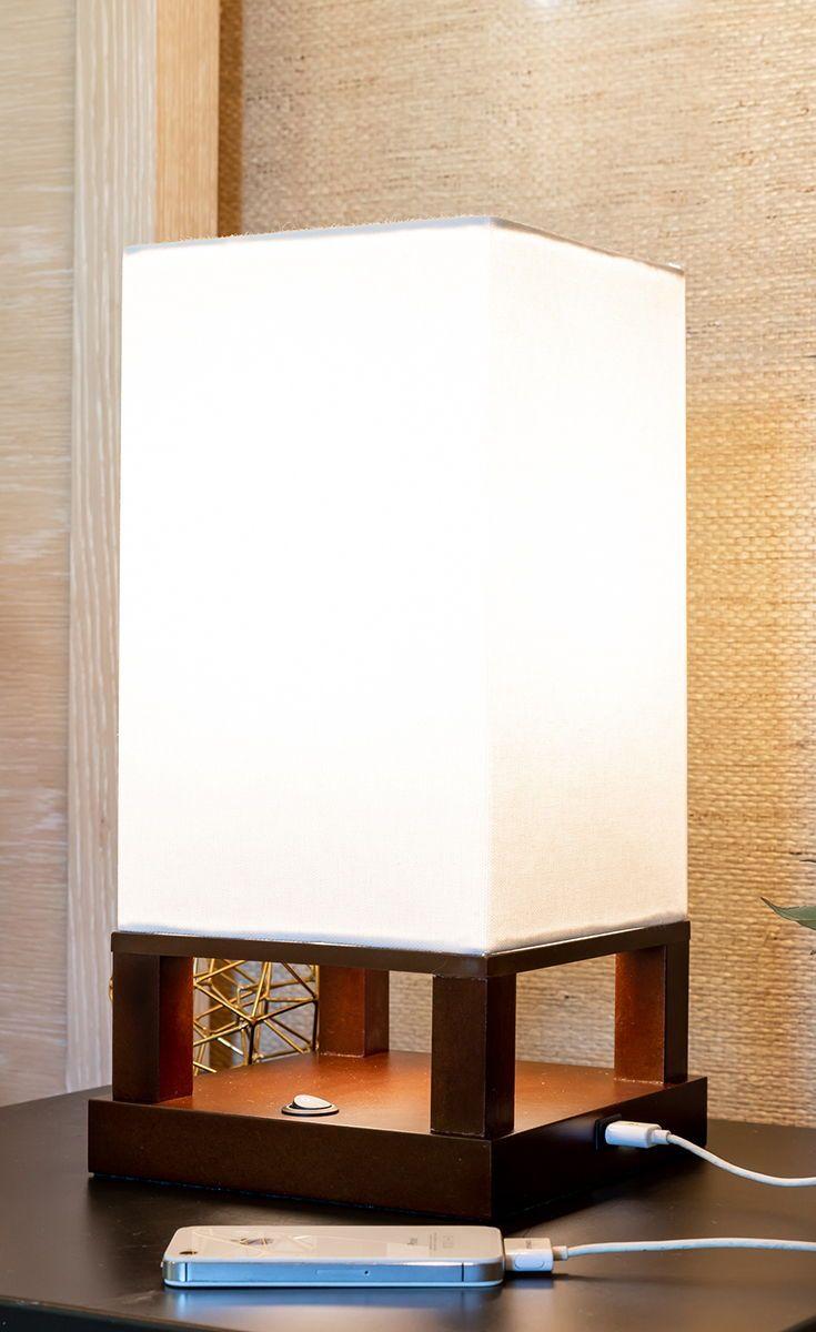 Maxwell Table Nightstand Desk Table Lamp Bedroom Light W