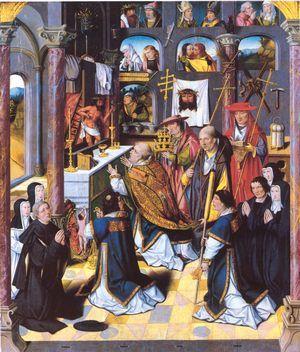 Meister des Lebensbrunnen, Gregorsmesse, um 1510