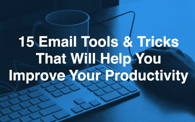 The ABC of Email Management: 15 Email Tools and Tricks That Will Help You Improve Your Productivity. For more information click here http://www.remotedba.com/