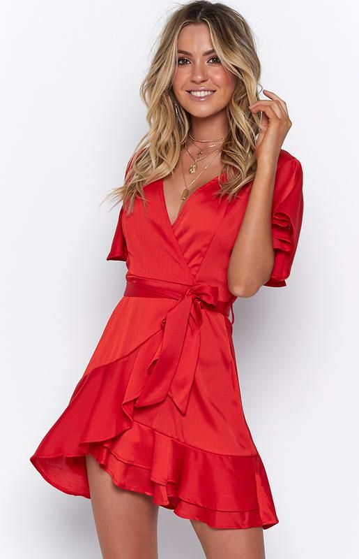 Just You Dress Red Spring And Summer Fashion In 2018 Pinterest Dresses Outfits