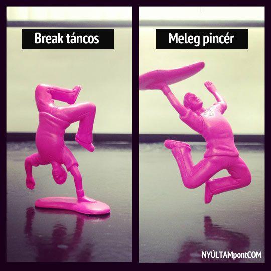 Műanyag játék break táncos. Vagy meleg pincér? Döntsd el te :)