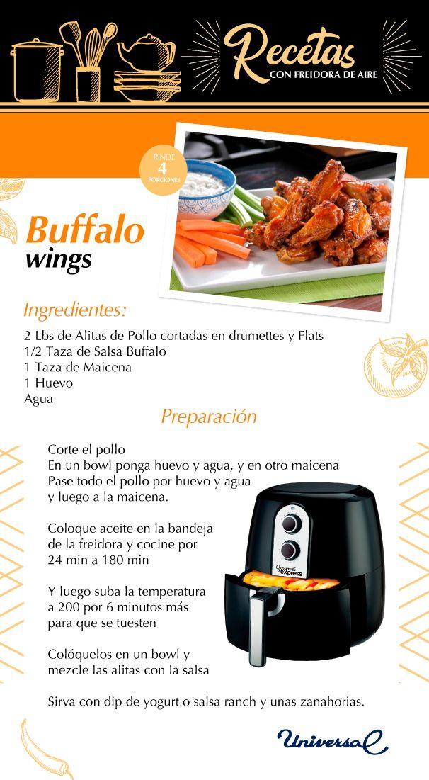 Receta Buffalo Wings Recetas Para Freidora Recetas Freidora Sin Aceite Freidora