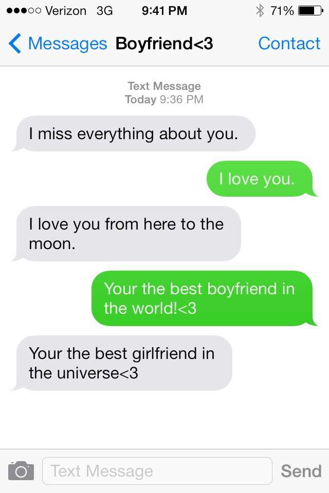 Cute boyfriend and girlfriend texts