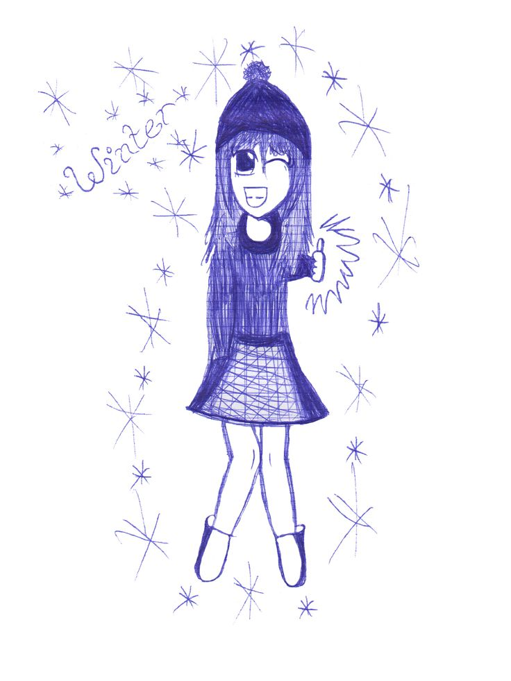 "Dessin stylo bille ""winter"""