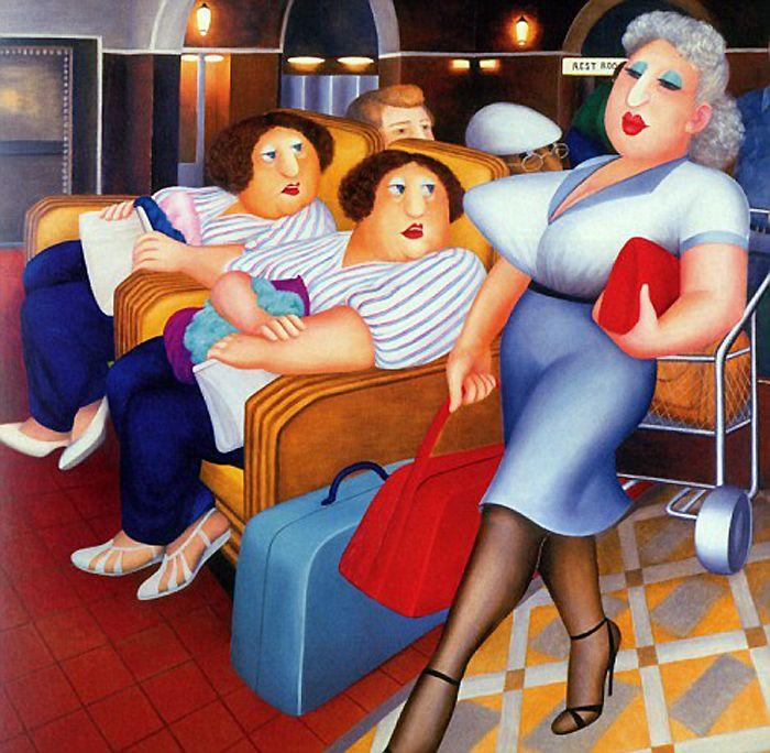 Il mondo di Mary Antony: I gaudenti personaggi di Beryl Cook