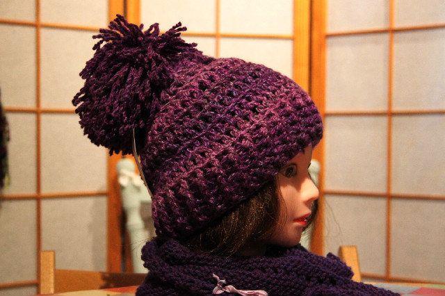 Bobble hat Violet, £13.50 #bobblehat #funcolouredhats #hat #giftsforher #giftsforhim