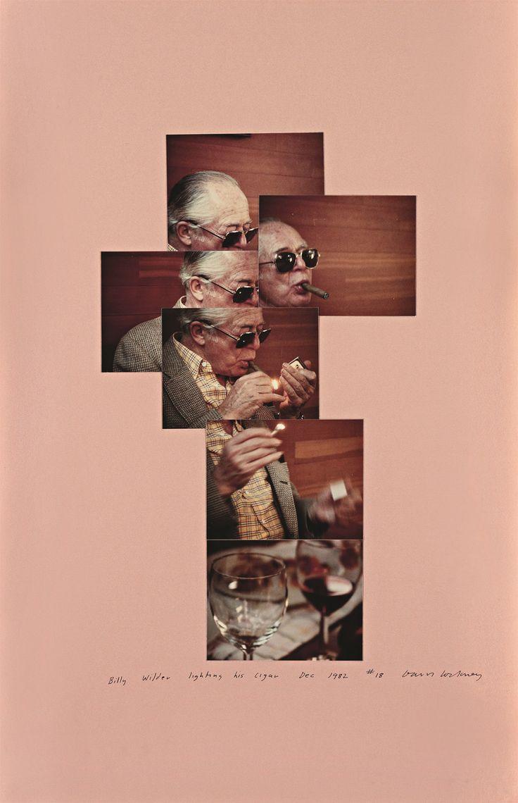 David Hockney | Billy Wilder lighting his cigar, December 1982 More