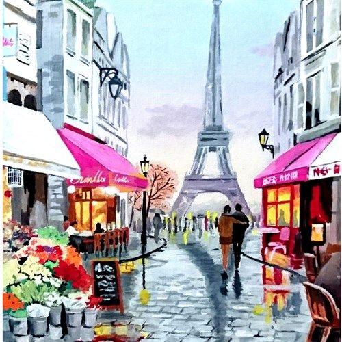 Obrazy maľované akrylom  ArtTila Obrazy-345
