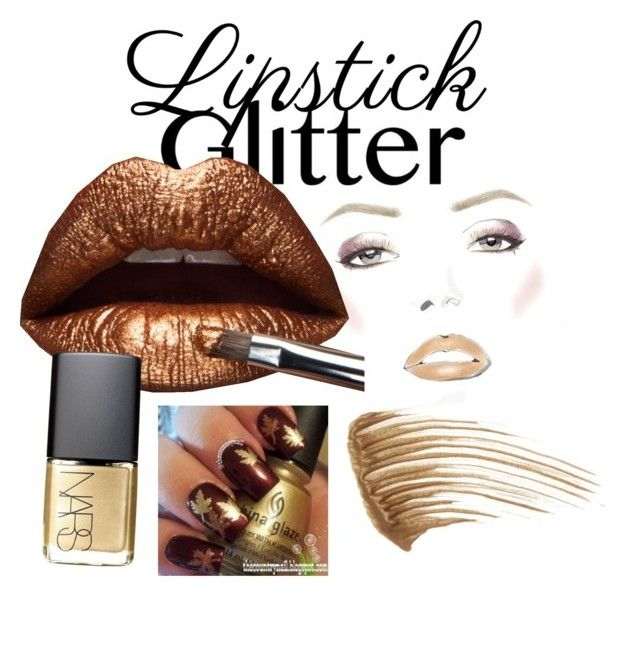 """""""Glitter Lipstick"""" by inauniqe on Polyvore featuring beauty, Anastasia Beverly Hills and NARS Cosmetics"""