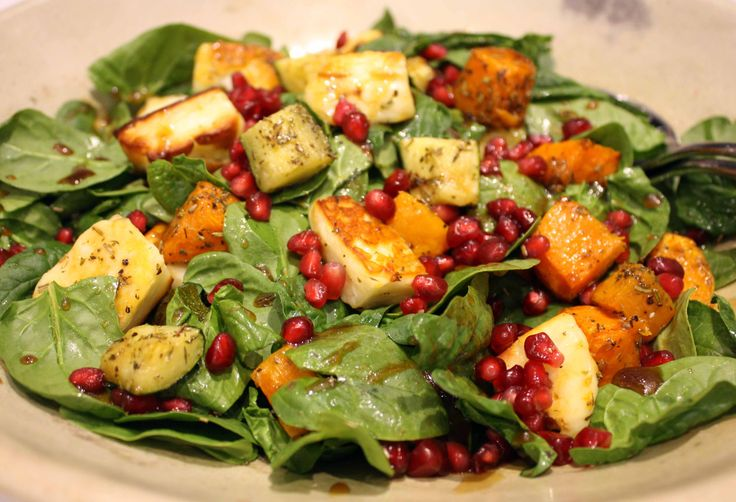 Roast Vegetable and Haloumi Salad