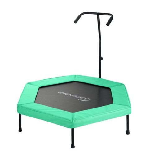 "Upper Bounce 50"" Hexagon Fitness Springless Trampoline with Hand Rail"