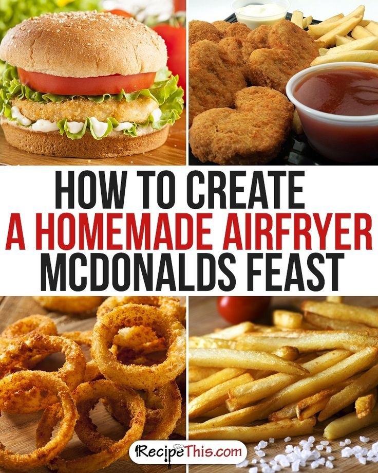 How To Create A Homemade Healthy McDonalds