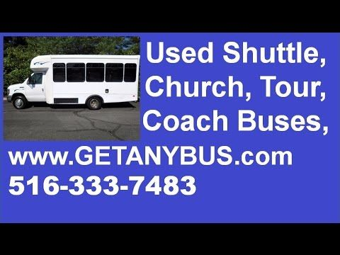 Used Passenger Bus For Sale in NC by NY Dealership   Call CHARLIE @ 516-333-7483   2010 Ford E350 Non-CDL Low Mileage Wheelchair Shuttle Bus For sale in North Carolina