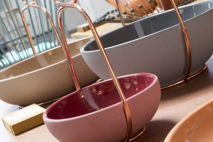 Muselet bowls by @ilaryinnocenti at Ventura Lambrate 2014