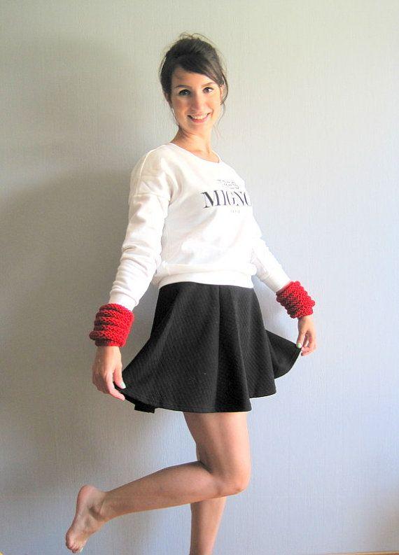 Mori girl Mori Kei Arm Warmers Arm Cuff Knit Arm by woolpleasure